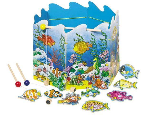 Игры для малышей Goki Игра Поймай рыбку на магнит