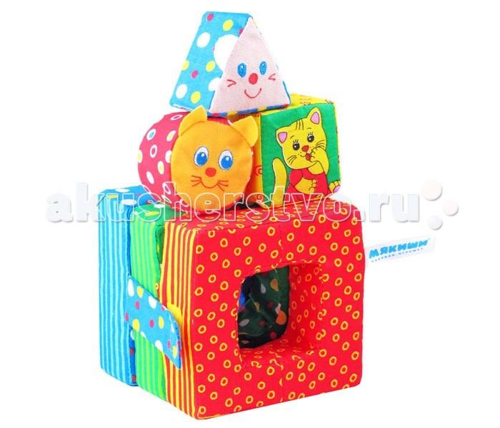 Развивающая игрушка Мякиши Кошки-мышкиКошки-мышкиРазвивающая игрушка Мякиши Кошки - мышки - это яркая и забавная игрушка — вкладыш может с помощью Вас и Вашего малыша показать целое театральное представление о мышке и кошке.  Вот домик складной, совсем он не простой,  А главное — мягкий, удобный такой.  С утра и до ночи за светлым окошко  Там в прятки играют мышонок и кошка!   Особенности: Изготовлено из гипоаллергенных материалов Состав: 100% х/б  Размеры: 14 х 12 х 12 см<br>