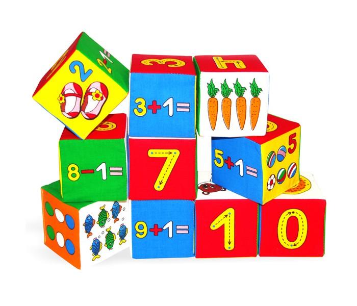 Развивающая игрушка Мякиши Кубики Умная математика 10 шт.Кубики Умная математика 10 шт.Развивающий игрушка Мякиши Кубики Умная математика - это 10 умных кубиков, которые познакомят и научат Вашего МАЛЫША понимать, что такое цифра, счёт, вычет, цвет, форма, мягкое, а также познакомят кроху с различными животными, растениями и предметами.  Кубики научат: Узнавать количество разных предметов со счётом и без счёта в пределах первого десятка Узнавать цифры от 0 до 9 и изучать правила каждой цифры Обозначать цифрами разные количества разных предметов Знакомить с разным составом чисел от 0 до 9 Решать примеры на сложение и вычитание с единицей для формирования представления о натуральном ряде чисел  Размер кубика: 7.5 х 7.5 см<br>