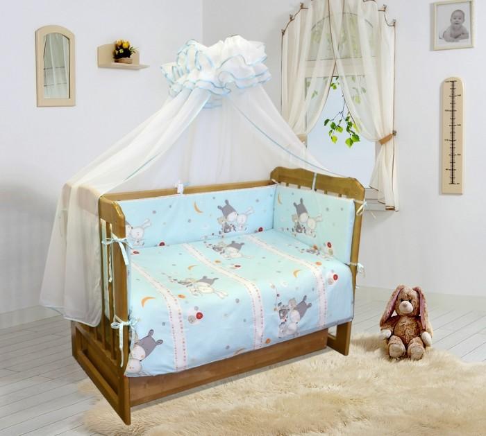 Бампер для кроватки Soni Kids Лунные сныЛунные сныОчень красивый высококачественный бампер в кроватку. Антиаллергенный наполнитель - холлофайбер. Размер: 360 х 36 см. Тип ткани : поплин Состав : 100% хлопок<br>