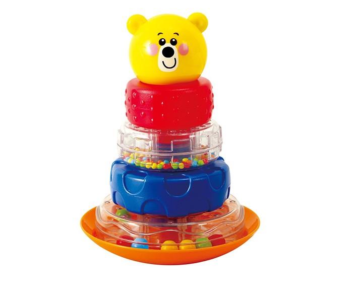 Развивающая игрушка Playgo Пирамида-неваляшка МишкаПирамида-неваляшка МишкаРазвивающая игрушка Пирамида-неваляшка Мишка.  Учитесь складывать колёсики-погремушки по порядку!   Тренируйте глазомер и координацию на шаткой подставке! Неваляшка развивает зрительно-моторную координацию.   Игрушка изготовлена из высококачественных материалов.<br>