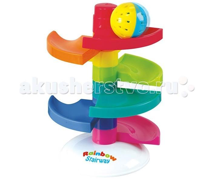 Развивающая игрушка Playgo Лабиринт с мячикомЛабиринт с мячикомЯркая игрушка развивающий центр Лабиринт с мячиком привлечет внимание малыша большими размерами и яркими красками.   Лабиринт представляет собой башню с 4 спиралевидными уровнями.   Как здорово взять мячик, положить его на самый верхний уровень и наблюдать как мячик промчится с самого верха вниз.  С такой игрушкой малышу никогда не будет скучно. Ее можно взять на дачу, или в гости.   Обладатель этой игрушки может позвать друзей и вместе придумать множество интересных игр.<br>