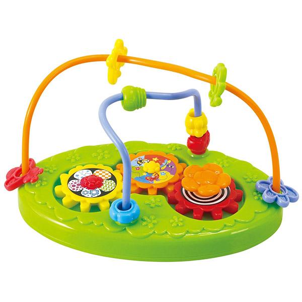 Развивающая игрушка Playgo Активный паркАктивный паркВ верхней части игрушки есть бусины-фигурки, которые можно передвигать по проволокам с одной стороны на другую.   Игрушка изготовлена из безопасных материалов.<br>