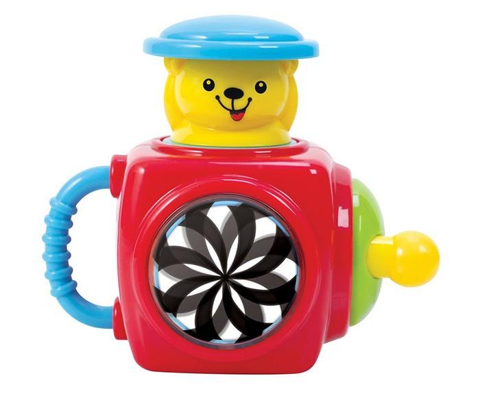 Развивающая игрушка Playgo Музыкальная шкатулка с мишкойМузыкальная шкатулка с мишкойРазвивающий центр Музыкальная шкатулка с мишкой - кубик с секретами для малышей от года.   Игрушка способствует развитию моторики рук, логики, формирует причинно-следственные связи: игрушка имеет крутилку, Мишка в яркой голубой шляпе спрячется от малыша, если он нажмет на него, а также есть еще много других секретов.<br>