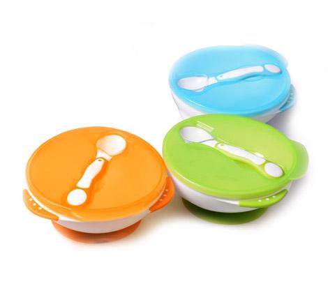 Посуда Baby Mix Тарелочка на присоске с ложечкой