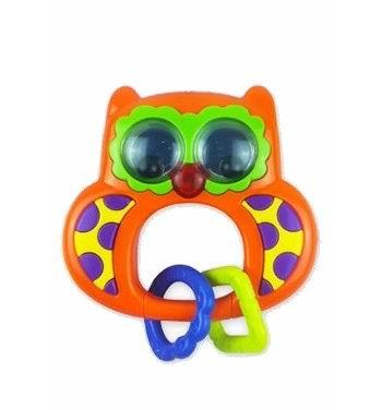 Погремушка Baby Mix музыкальная Совамузыкальная СоваМузыкальная игрушка-погремушка Сова оснащена различными деталями и элементами со звуковыми и световыми сигналами. Такая игрушка заинтересует как малыша, так и ребенка постарше.  Особенности: сделана из прочного, высококачественного материала сбоку находится небольшая кнопка-переключатель при звучании музыки светятся глаза Совы эргономичная ручка сделана специально для маленьких детских пальчиков имеет аккуратные безопасные края для работы нужны батарейки детали разных цветов стимулируют развитие зрительных способностей и цветового восприятия трогая ручками элементы, кроха тренирует пальчики и осваивает хватательный рефлекс<br>