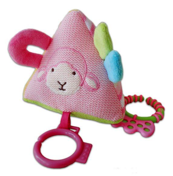 Подвесная игрушка Жирафики Пирамида розовая 939280