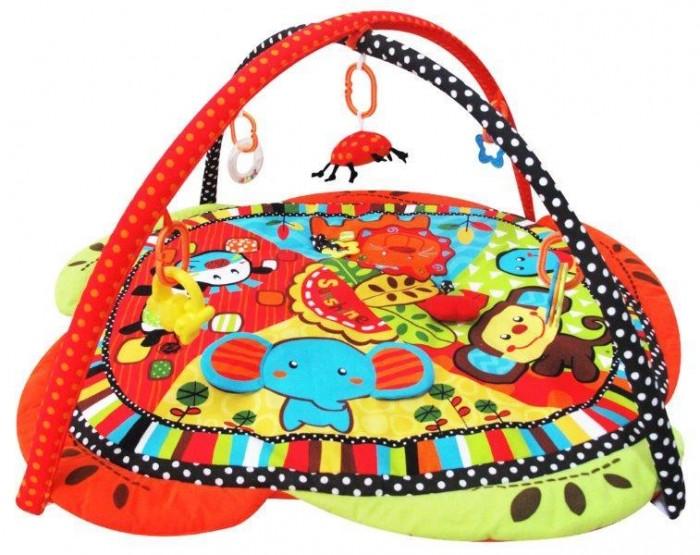 Развивающий коврик Baby Mix СаваннаСаваннаРазвивающий коврик Саванна - это целая игровая площадка, в которой есть все необходимое для занимательной игры и развития малыша. Он будет интересен как совсем маленьким крошкам, так и подросшим карапузам. Яркие тона игрового поля, красочные подвесные игрушки - вот те особенности, которые привлекают внимание ребенка.  Особенности: довольно большое игровое поле на игровом поле есть несколько разнотекстурных элементов безопасное зеркальце в мягкой оправе кроха учится фокусировать взгляд на предмете малыш учится удерживать в руках предметы ребенок получает знания о пространственном положении вещей мелкие детали и разнофактурные элементы стимулируют развитие мелкой моторики и тактильного восприятия яркие тона стимулируют развитие зрения<br>
