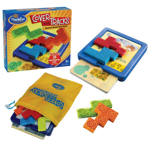 Игры для школьников Thinkfun Игра-головоломка Спрячь свои следы cover your tracks