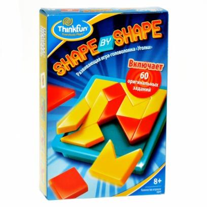 Thinkfun Игра-головоломка Уголки Shape by ShapeИгра-головоломка Уголки Shape by ShapeThinkfun Игра-головоломка Уголки Shape by Shape - оригинальная игра-головоломка на пространственное мышление.  Правила игры: Карточки содержат 60 заданий приблизительно одинакового уровня сложности На карточке задания изображен рисунок, который необходимо составить из красных и жёлтых фигур На обратной стороне каждой карточки приведено решение задания - схема сборки жёлтых элементов и схема сборки красных элементов Можно воспользоваться либо полной подсказкой, либо её частью  При решении задания будут задействованы все фигуры Сначала попробуйте составить красную часть рисунка, затем заполнить жёлтыми фигурками оставшиеся свободные места на игровом поле  Карточки удобно хранить в контейнере, расположенном под игровым полем  В комплекте:  Игровое поле : 1 шт Жёлтые фигуры: 8 шт Красные фигуры: 6 шт Карточки с заданиями: 60 шт Фирменный мешочек для хранения элементов игры<br>