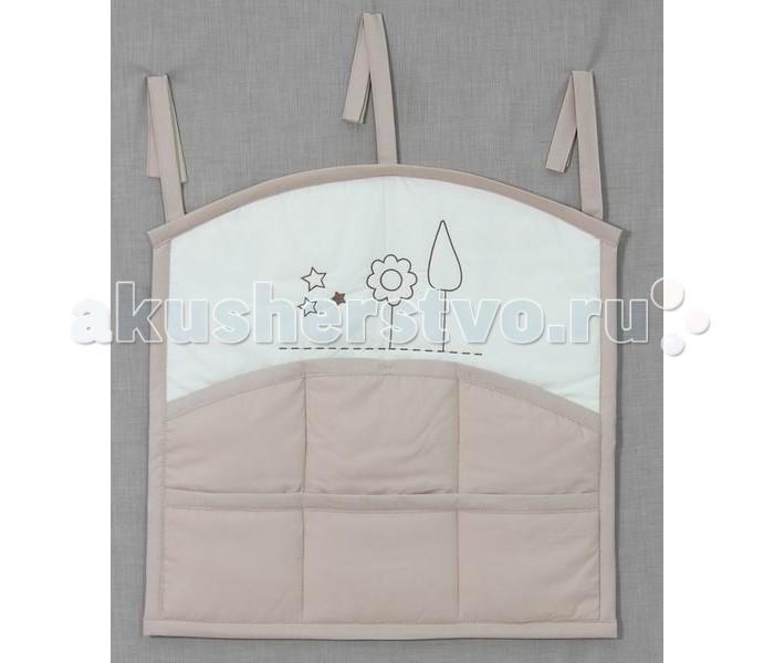 Fairy Карман для кроватки Я и моя мамаКарман для кроватки Я и моя мамаКарман станет отличным и незаменимым помощником для мам.  Он легко и удобно крепится на кровать, при необходимости так же легко снимается.  Довольно вместительные размеры позволяют хранить в нем самые необходимые предметы для ухода за малышом.  Привлекательный дизайн и нежная расцветка позволяет гармонично вписаться в интерьер любой детской комнаты.  Размер 67х63 см.<br>