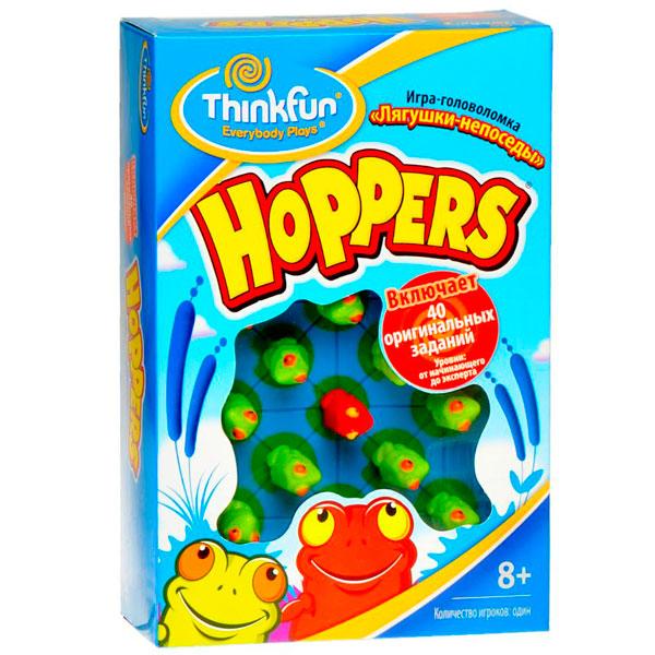 Игры для школьников Thinkfun Игра-головоломка Лягушки-непоседы Hoppers