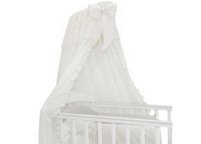 Балдахин для кроватки Fairy 56905690Подходит ко многим комплектам постельного белья. Легко монтируется на любом креплении.  Габариты и вес Размеры (ДхШ) – 300 х 180 см Вес - 0,30 кг материал шторки - вуаль, шторка послужит прекрасным украшением кроватки малыша, защитит ребенка от назойливых насекомых, обеспечивает хорошую циркуляцию воздуха, легко стирать.<br>