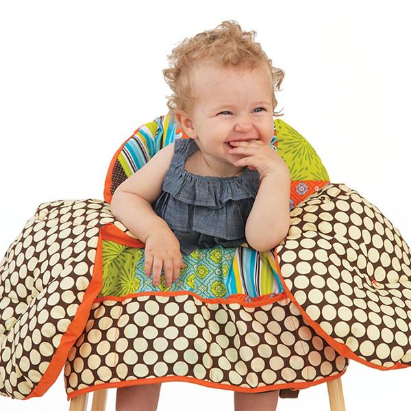 Вкладыши и чехлы для стульчика Infantino Накидка на сиденья Лоскутное шитье