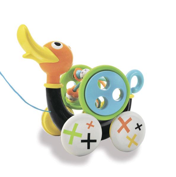 Каталка-игрушка Yookidoo Музыкальная уточка