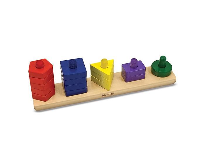 Деревянная игрушка Melissa &amp; Doug Пирамидки на доскеПирамидки на доскеПирамидки на доске Melissa & Doug  Детям действительно понравится учиться! Соотнесите цвета и количества 15 красочных деревянных частей, идущих в комплекте, с нарисованными на прочной деревянной доске. Соотнесите цвета и количества 15 красочных деревянных частей, идущих в комплекте, с нарисованными на прочной деревянной доске. Отличная игрушка, связанная с манипуляцией предметов, поможет научиться находить соответствия и развить навыки счета!<br>