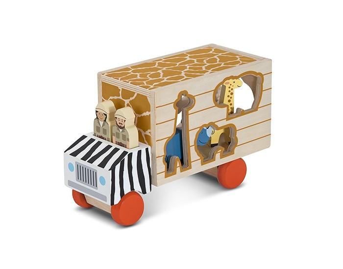 Деревянная игрушка Melissa &amp; Doug Сортировщик-грузовик СафариСортировщик-грузовик СафариСортировщик-грузовик Melissa & Doug Сафари<br>