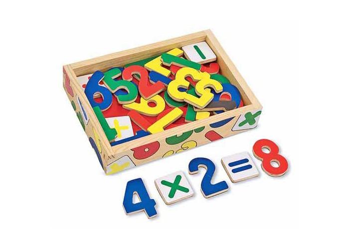 Деревянная игрушка Melissa &amp; Doug Магнитная игра Цифры 37 шт.Магнитная игра Цифры 37 шт.Магнитная игра Melissa & Doug Цифры<br>