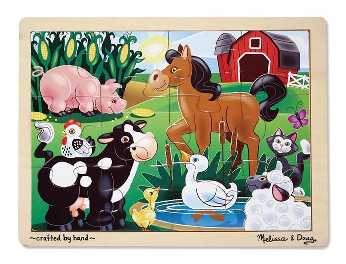 Melissa &amp; Doug На ферме 12 элементовНа ферме 12 элементовМои первые пазлы Melissa & Doug На ферме.  Собирать картинку из пазлов - весло и увлекательно. Это замечательное времяпровождение для детей.<br>