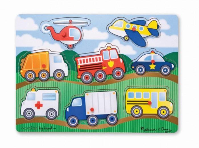 Melissa &amp; Doug Транспорт 8 элементовТранспорт 8 элементовМои первые пазлы Melissa & Doug Транспорт.  Собирать картинку из пазлов - весло и увлекательно. Это замечательное времяпровождение для детей.<br>