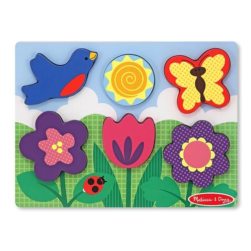 Melissa &amp; Doug Цветущий садЦветущий садМои первые пазлы Melissa & Doug Цветущий сад.  Собирать картинку из пазлов - весло и увлекательно. Это замечательное времяпровождение для детей.<br>
