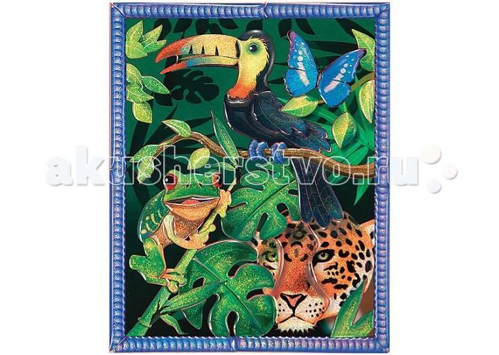 Melissa &amp; Doug Мозаика Тропический ЛесМозаика Тропический ЛесМозаика Melissa & Doug Тропический Лес - развивает не только мелкую моторику рук, фантазию, но и зрительную память.  С помощью цветных блестящих пронумерованных наклеек, Ваш ребенок сможет создать картину.<br>