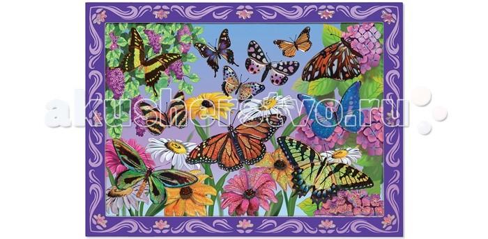 Melissa &amp; Doug Мозаика Цветочная ПолянаМозаика Цветочная ПолянаМозаика Melissa & Doug Цветочная Поляна - развивает не только мелкую моторику рук, фантазию, но и зрительную память.  С помощью цветных блестящих пронумерованных наклеек, Ваш ребенок сможет создать картину.<br>