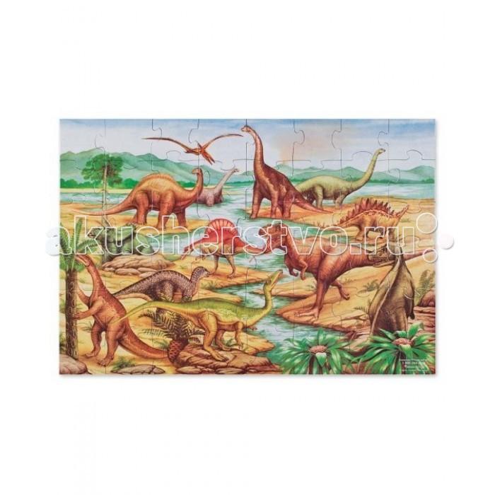 Настольная игра Динозавры. Деревянные пазлы