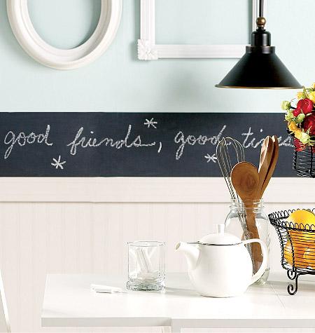 Аксессуары для детской комнаты Wallies Набор наклеек Бордюр для рисования мелом