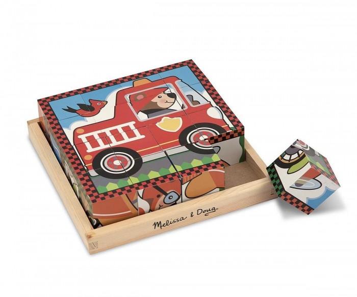 Развивающая игрушка Melissa &amp; Doug Пазл из кубиков ТранспортПазл из кубиков ТранспортПазл из кубиков Melissa & Doug Транспорт  Шесть паззлов в одном. Этот уникальный паззл состоит из 16 деревянных кубиков. На одной части кубика изображен один вид транспорта. Поворачивайте кубики на деревянной панели, чтобы собрать шесть различных изображений транспорта.<br>