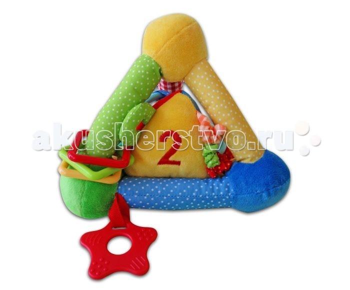 Развивающая игрушка Жирафики Пирамида цветная 939299Пирамида цветная 939299Развивающая игрушка Жирафики 939299 Пирамида цветная - настоящий тренажер для детских пальчиков и сообразительности.   Внутри большой пирамиды спрятана маленькая с погремушкой, на которой вышиты яркие цифры. Различная фактура ткани, а также колечки и резиновые элементы предназначены для тренировки сенсорного восприятия.   Игрушка сшита из мягкой и приятной на ощупь разноцветной ткани.  Предназначена для развития мелкой моторики, сенсорного, цветового и слухового восприятия, воображения.  Высота кубика: 17 см<br>