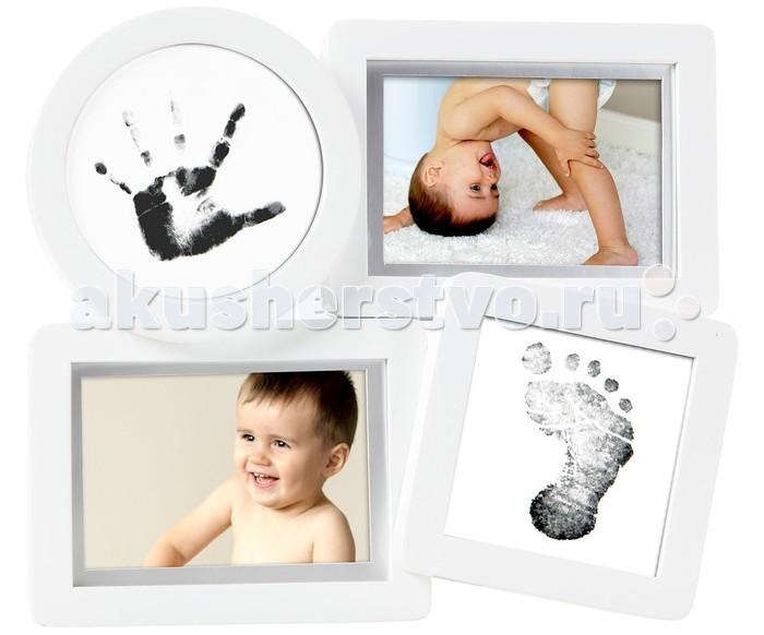 Фотоальбомы и рамки Pearhead Рамочка четыре окошка с отпечатком