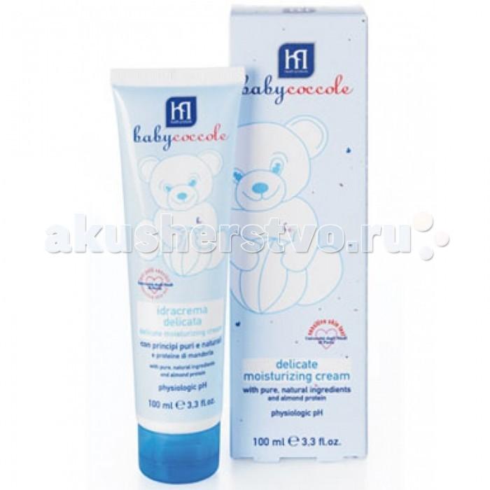 Babycoccole Крем легкий увлажняющий 100 млКрем легкий увлажняющий 100 млС чистыми натуральными ингредиентами и протеинами миндаля.  Описание и основные ингредиенты деликатно увлажняет, успокаивает и защищает кожу разработан специально для заботливого ухода за чувствительной кожей новорожденных и маленьких детей успокаивает и увлажняет, благодаря чистым и натуральным ингредиентам, таким как бетаглюкан овса, эсцин из экстракта конского каштана, протеины миндаля гипоаллергенный, обладает физиологическим уровнем pH  Применение нанести тонким слоем на кожу ребенка, особенно на места, склонные к сухости необходимо применять в сухую ветреную погоду  Результат защищает кожу от негативного внешнего воздействия окружающей среды увлажненная, чистая, отдохнувшая кожа ребенка предотвращает появление покраснений и раздражений   Тестировано тест на чувствительной коже – университет г. Павиа  Babyсoccole включает все линии косметики, необходимые для ухода за кожей новорожденных: «Купание», «Смена подгузников», «Уход за кожей», «Защита от солнца», «Atosesitive» (для кожи, склонной к атопическому дерматиту), «Антимоскитные средства», зубные пасты.  Косметика соответствует Европейской директиве 2003/15/СЕЕ, которая регулирует вопрос о недопустимости в содержании аллергических веществ. Для косметических средств характерен легкий мягкий запах мускуса с цитрусовой ноткой, который так подходит и нравится детям.  Babycoccole – это чистые и натуральные решения, созданные самой природой, потому что они основаны на использовании лучших и наиболее эффективных свойств компонентов растений.  Создана в результате глубоких исследований для ухода за нежной кожей новорожденных и маленьких детей. Разработана и произведена в лаборатории Betafarma, Италия. Клинически тестирована на чувствительной коже в одном из наиболее авторитетных университетов Европы в области фармакологии в в г.Павиа.  специально разработана для детей с самого рождения оказывают смягчающее, увлажняющее и защитное действие на кожу 