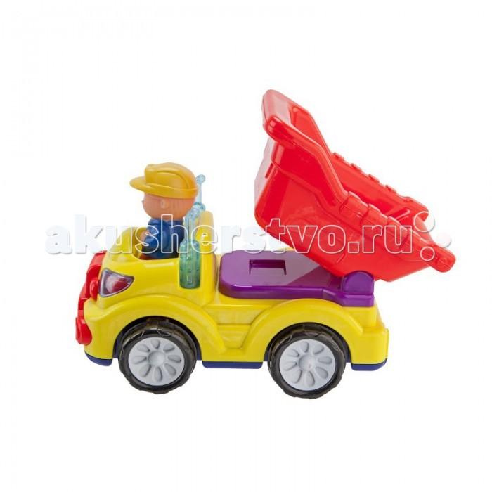 Bairun Самосвал с водителем BR2290AСамосвал с водителем BR2290AСамосвал Bairun BR2290A- это настоящее чудо техники светит фарами и выхлопными трубами.  Издает реалистичные звуки работающего мотора и приятные мелодии, кузов можно поднимать и опускать, при этом он пощелкивает, шофер может вылезать из самосвала, а если его посадить на рабочее место и нажать на него, самосвал начинает движение. Отличная техника!   Для работы необходимы батарейки AА 3 шт. (в комплект не входят). Предназначен для детей от 18 месяцев.  Размеры упаковки: 25 х 15 х 18 (шхгхв) см<br>
