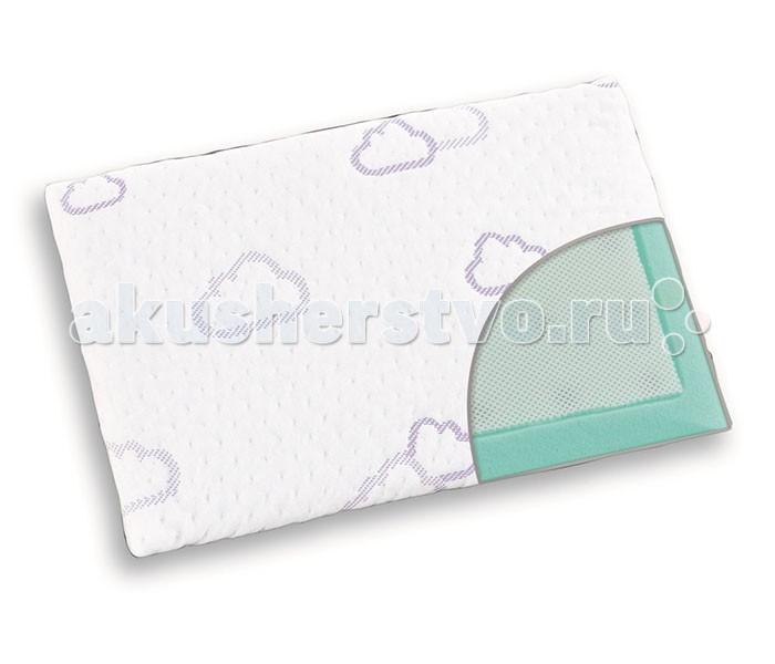 Traumeland Подушка Cloud 41х26х2Подушка Cloud 41х26х2Подушка Traumeland Cloud 41х26х2 см  Подушка мягко поддерживает маленькую голову вашего ребенка в идеальном, эргономичном положении.  Чехол подушки создан в соответствии с технологией Traumeland «sleep safety»/ «безопасный сон». Натуральные волокна Tencel®/Тенсель приятны для нежной детской кожи, регулируют влажность и поддерживают чистоту и сухость.  Наполнитель «Waterlily» - пена с «памятью» идеально подходит для того, чтобы поддерживать естественную форму головы вашего ребенка. Вязкоупругая («запоминающая») пена реагирует на давление и тепло, превосходно поддерживает голову ребенка, принимая ее форму. 3D air функция обеспечивает идеальную циркуляцию воздуха, уменьшает потоотделение и создает условия для идеально правильного дыхания.   Размер: 41х26х2 см.  Технология «Sleep Safety» (свежий и безопасный сон) – обеспечивает защиту от влажности, дышащие свойства и антибактериальное покрытие.<br>