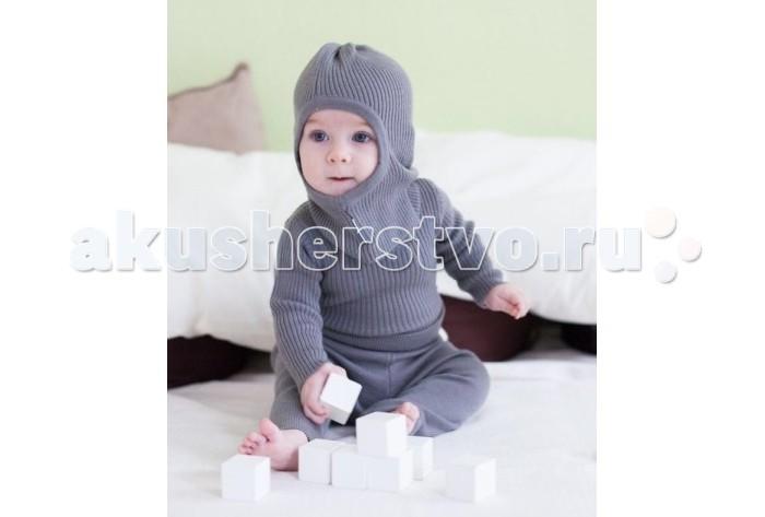 Шапочки и шарфы KoCoi Шапка-шлем из шерсти 1-2 года