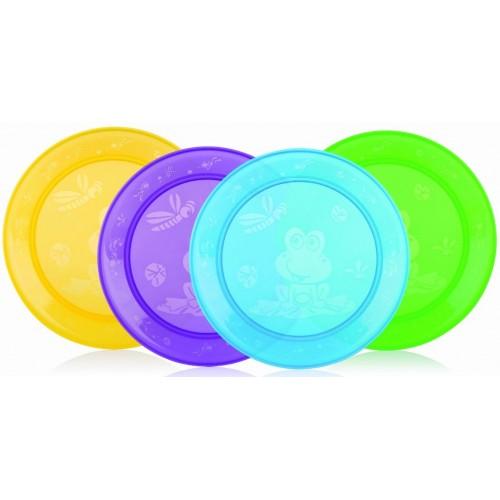 Посуда Nuby Тарелка плоская 4 шт. 65670