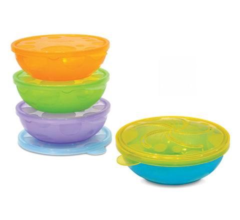 Посуда Munchkin Набор детских пластиковых мисок 4 шт.