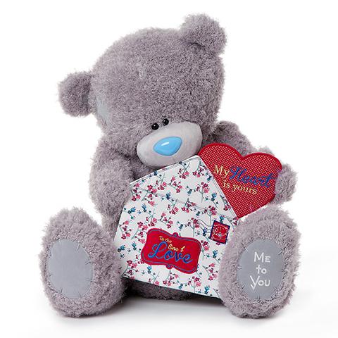 Мягкая игрушка Me to You Мишка Тедди с конвертом 71 смМишка Тедди с конвертом 71 смМягкая игрушка Me to You Мишка Тедди с конвертом – самый лучший подарок как для ребенка, так и для взрослого! Забавная игрушка сделана из приятного и очень мягкого плюша, безвредного для малыша. С такой милой игрушкой можно смело засыпать в кроватке или отправляться на прогулку.   Очаровательный мишка - самый лучший подарок как для ребенка, так и для взрослого! Тедди дарит свою любовь и нежность многим поколениям детей и взрослых, откройте свое сердце для него.<br>