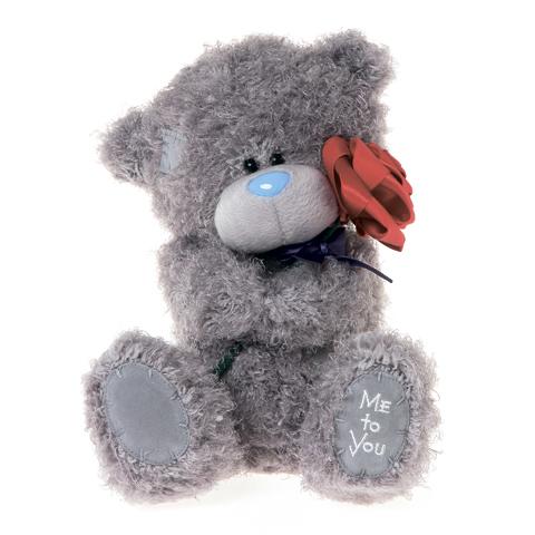 Мягкая игрушка Me to You Мишка Тедди с розой 25 смМишка Тедди с розой 25 смМягкая игрушка Me to You Мишка Тедди с розой – самый лучший подарок как для ребенка, так и для взрослого! Забавная игрушка сделана из приятного и очень мягкого плюша, безвредного для малыша. С такой милой игрушкой можно смело засыпать в кроватке или отправляться на прогулку.   Очаровательный мишка - самый лучший подарок как для ребенка, так и для взрослого! Тедди дарит свою любовь и нежность многим поколениям детей и взрослых, откройте свое сердце для него.<br>