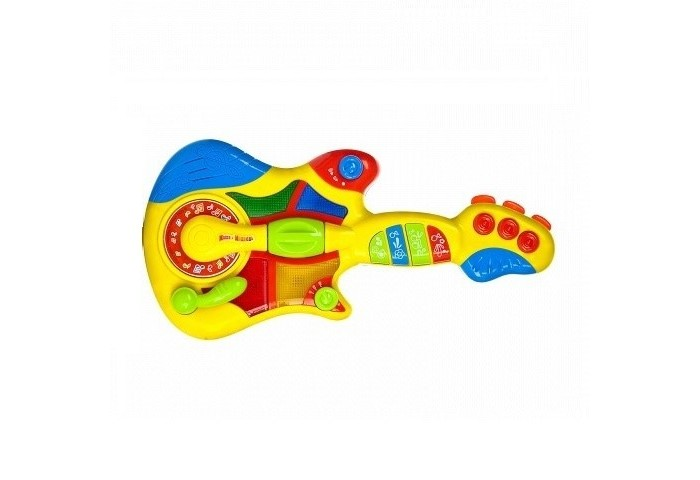 Музыкальная игрушка Играем вместе Электрогитара Маша и МедведьЭлектрогитара Маша и МедведьИграем вместе Электропианино Маша и Медведь - лучший выбор для ребенка, мечтающего о собственном музыкальном инструменте.   Красивая разноцветная игрушка с разнообразными звуковыми и световыми эффектами выглядит почти как настоящая. При нажатии на кнопки можно услышать пять разных песенок из мультфильма. Игрушка поможет ребенку развить слух и чувство ритма.<br>