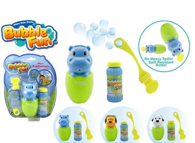 Мыльные пузыри Bubble Fun Набор для пускания мыльных пузырей Забавные животные