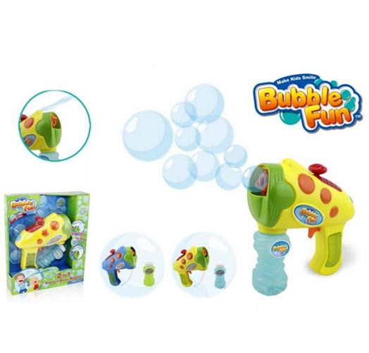 Мыльные пузыри Bubble Fun Набор для пускания мыльных пузырей 2 в 1 Пистолет