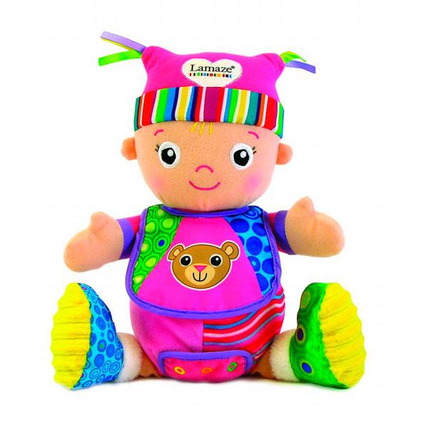 Lamaze Кукла Моя Первая Кукла Маша 28 смКукла Моя Первая Кукла Маша 28 смМягкая игрушка Lamaze Моя Первая Кукла Маша из мягких текстильных материалов с шуршащими элементами.  Забавная мягкая игрушка - прекрасный подарок к любому празднику!  Мягкая игрушка наполнит мир вашего малыша приятными ощущениями и положительными эмоциями. Способствует развитию воображения и тактильной чувствительности у детей.  Качество подтверждено сертификатами соответствия.  Изготовлено из гипоаллергенных материалов.  Размеры: 28 х 20 х 15 см<br>