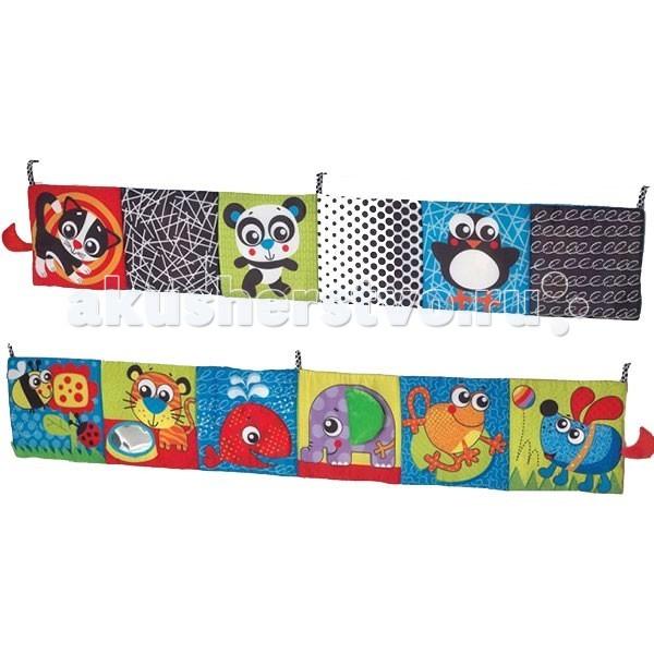 Книжки-игрушки Playgro Двусторонняя книжка для игры в кроватке 0183444
