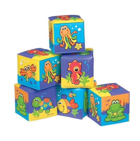 Playgro Игрушка для игр в ванной Кубики 0181170