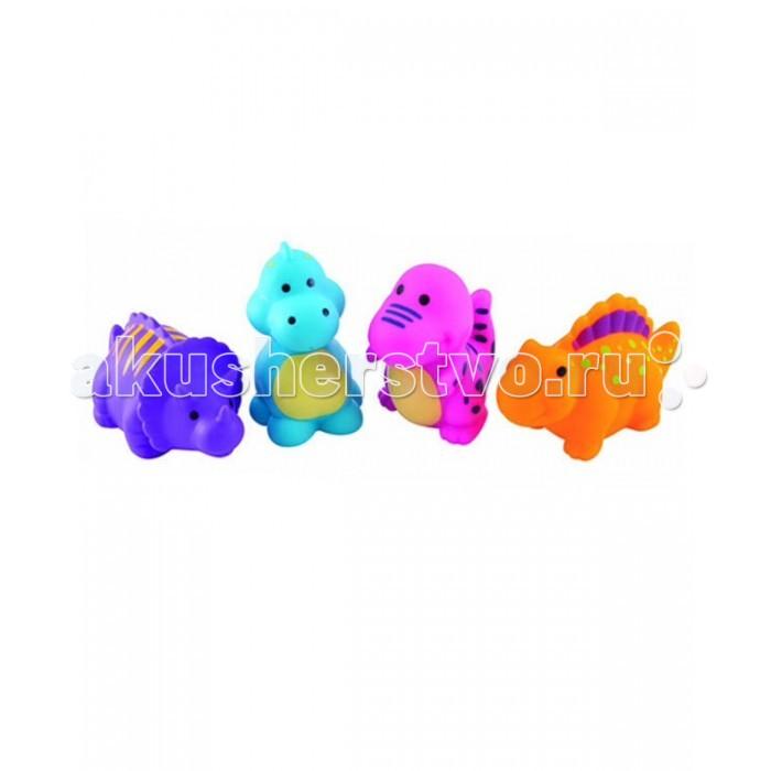 Canpol Игрушка в ванну Динозаврики 4 шт. 2/995Игрушка в ванну Динозаврики 4 шт. 2/995Игрушка в ванну Динозаврики Canpol 2/995.   Красочные динозаврики, изготовленные из безопасных материалов, превратят купание малыша в настоящий праздник. Игрушка способствует развитию зрительной координации и мелкой моторики ребенка.   Подходят для детей старше 12 месяцев.  Игрушки продаются в наборе из 4-х штук.   В комплект также входит практичная сумочка, которая позволяет хранить все игрушки в одном месте.<br>