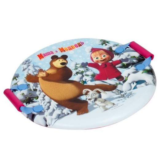 Ледянка Играем вместе Маша и Медведь круглая