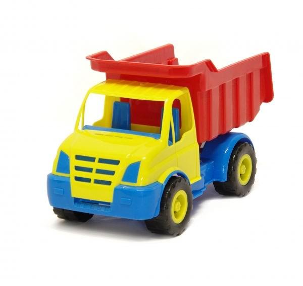 Каролина-М Автомобиль КрошАвтомобиль КрошЯркий Автомобиль Крош 40-0013 станет хорошим подарком для вашего мальчика.   Яркий цветной детский грузовичок «Крош» будет прекрасным подарком для мальчишки на любой праздник. Игрушка изготовлена из высококачественной прочной нетоксичной пластмассы и подойдет как для игры дома, так и для игры на улице в песочнице. В большой кузов машинки можно положить множество небольших игрушек или нагрузить немного песка.   С такой замечательной игрушкой можно играть как дома, так и брать с собой на улицу. Самосвал изготовлен из качественных и прочных материалов. Ваш мальчик обязательно порадуется такой чудесной машине.  Игрушка, выполненная в ярких цветах, обладает особой прочностью. Не стоит опасаться, что она развалится в руках после нескольких часов наедине с ребенком. Такой подарок доставит малышу множество увлекательных часов.<br>