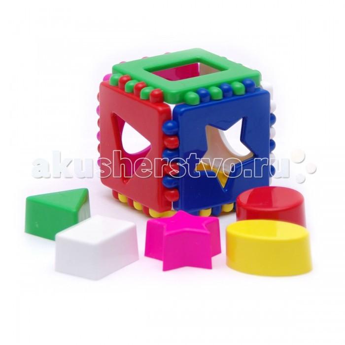 Сортер Каролина-М Кубик логический малыйКубик логический малыйИгрушка Кубик логический малый предназначена для развития у ребенка мелкой моторики рук, логического мышления и цветовосприятия.   Представляет собой сборный куб, на каждой грани которого находятся отверстия различной формы, в которые предлагается вставлять соответствующие фишки.   Есть возможность расположить грани на полу и играть в таком виде.<br>